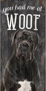 Cane Corso Woof Sign
