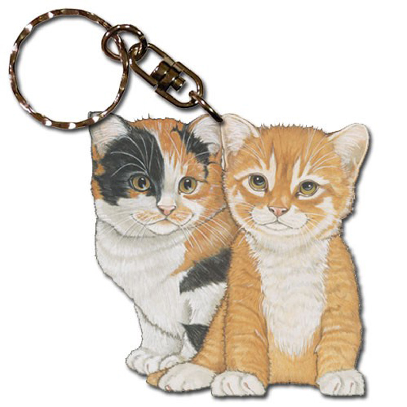 Key Rings With Dog And Cat Figurines
