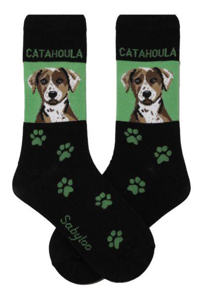 Catahoula Socks on Green Background