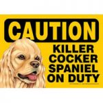Caution Dog Signs