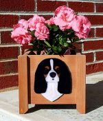 Cavalier King Charles Planter Flower Pot Tri