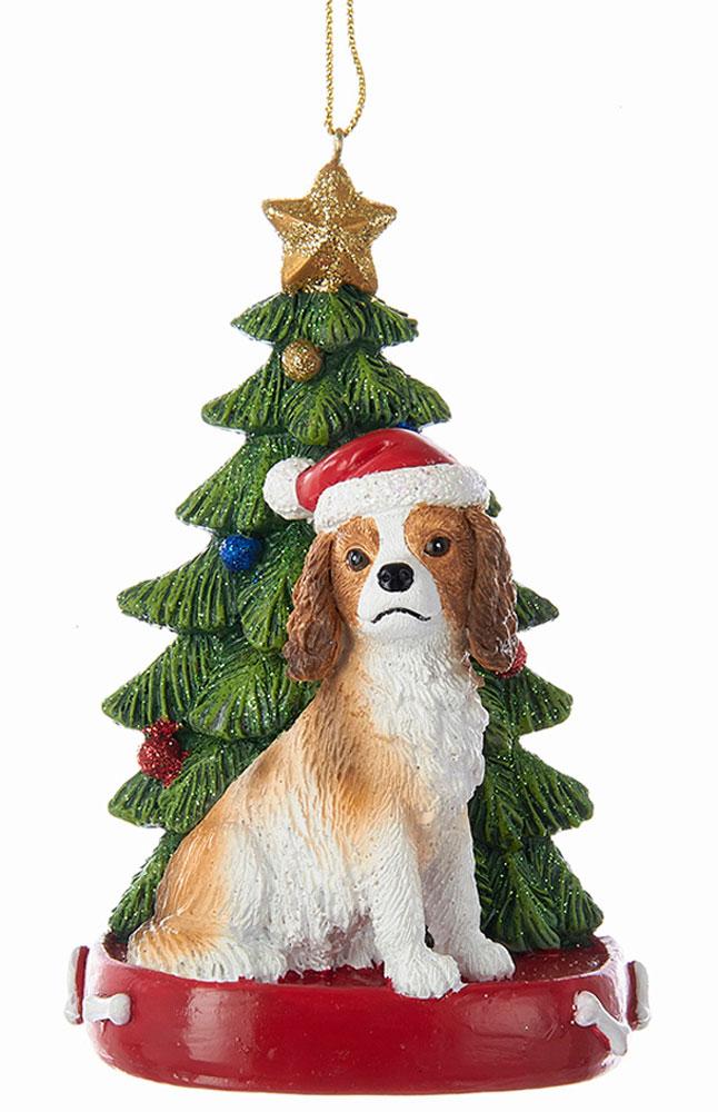 Cavalier King Charles Christmas Tree Ornament Brown