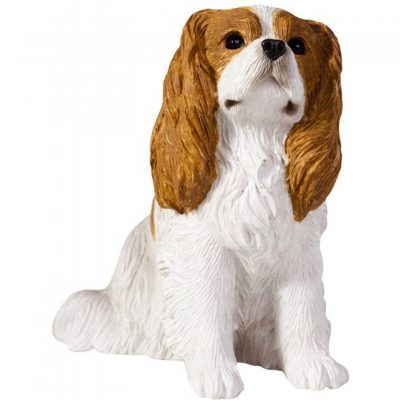 Cavalier King Charles Figurine Hand Painted Blenheim - Sandicast