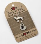 Cavalier King Charles Necklace & Collar Charm Set 16 Inches