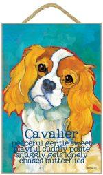 Cavalier King Charles Characteristics Indoor Sign Blenheim