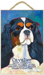 Cavalier King Charles Characteristics Indoor Sign Tri-Color