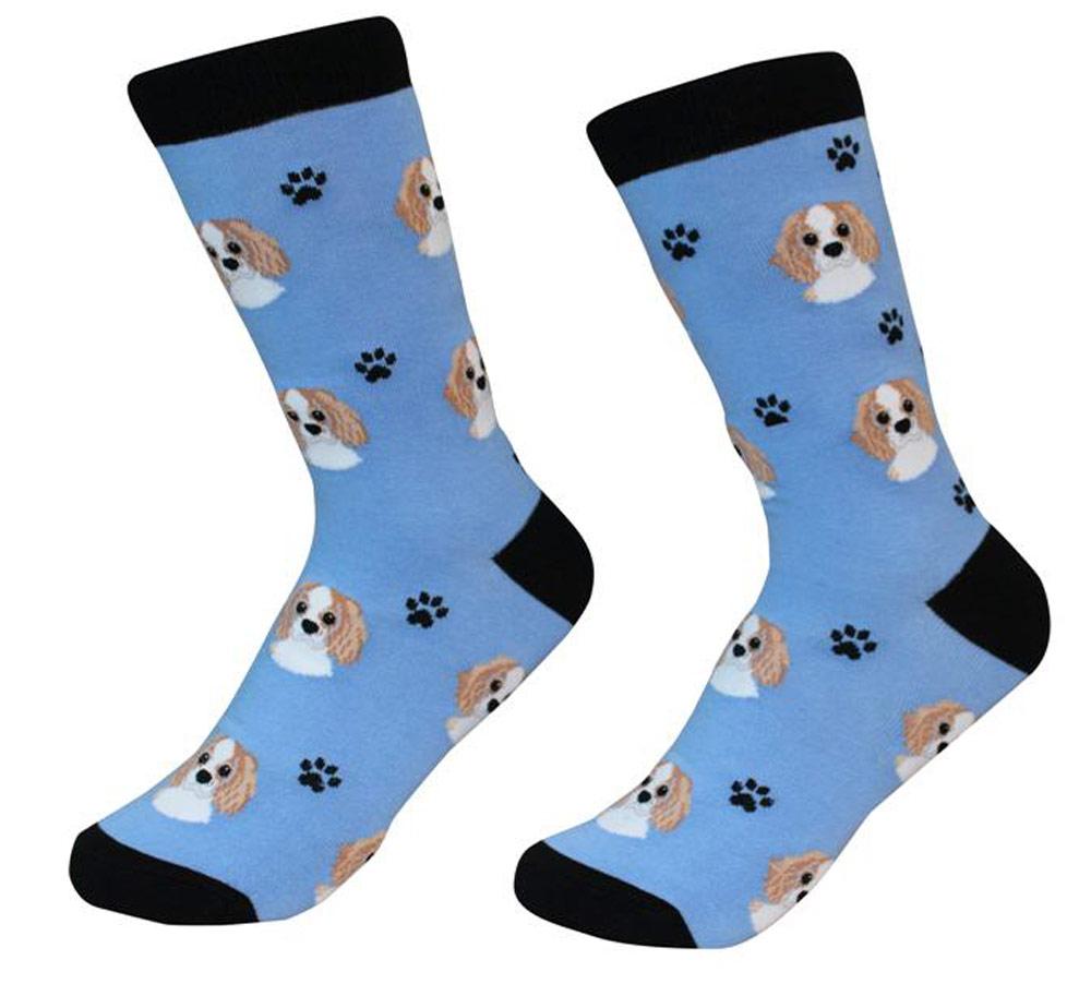 Cavalier King Charles Face Pattern Socks Blenheim