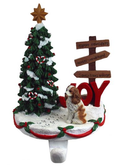 Cavalier King Charles Stocking Holder Hanger Brown
