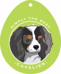 "Cavalier King Charles Sticker 4x4"" Tri Color"