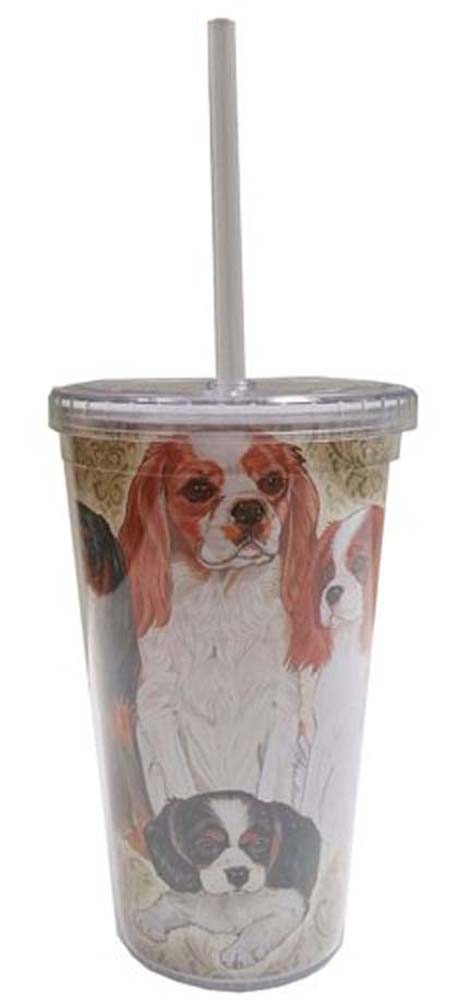 Cavalier King Charles Tumbler With Straw