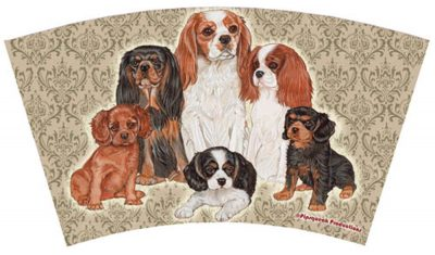 Cavalier King Charles Tumbler With Straw Design