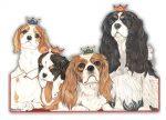 Cavalier King Charles Wooden Magnet Family