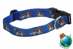 "Cavalier King Charles Dog Breed Adjustable Nylon Collar Medium 10-16"" Blue"