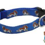 Cavalier King Charles Dog Breed Adjustable Nylon Collar Medium 10-16″ Blue 1