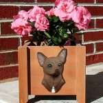 Chihuahua Planter Flower Pot Brown 1