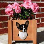 Chihuahua Planter Flower Pot Tri 1