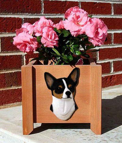 Chihuahua Planter Flower Pot Tri