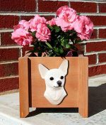 Chihuahua Planter Flower Pot White