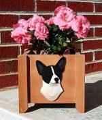 Chihuahua Planter Flower Pot Black White