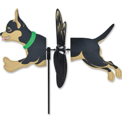 Black Chihuahua Wind Spinner