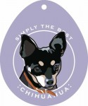 "Chihuahua Sticker 4x4"" Black"