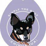 Chihuahua Sticker 4×4″ Black 1