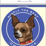 Chihuahua Car Magnet 4×4″ 1