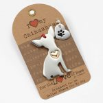 Chihuahua Holiday Ornament & Collar Charm Set