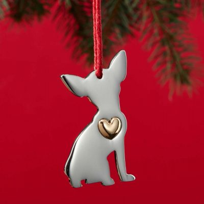 Chihuahua Holiday Ornament & Collar Charm Set