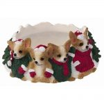 Chihuahua Holiday Candle Topper Ring 1
