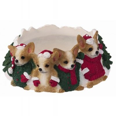 Chihuahua Holiday Candle Topper Ring