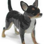 Chihuahua Hand Painted Porcelain Figurine Black 1