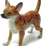 Chihuahua Hand Painted Porcelain Figurine Tan 1