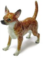 Chihuahua Hand Painted Porcelain Figurine Tan