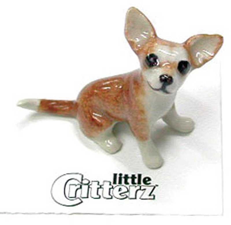Chihuahua Hand Painted Porcelain Miniature Figurine