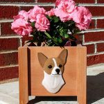Chihuahua Planter Flower Pot Fawn White 1