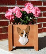 Chihuahua Planter Flower Pot Fawn White