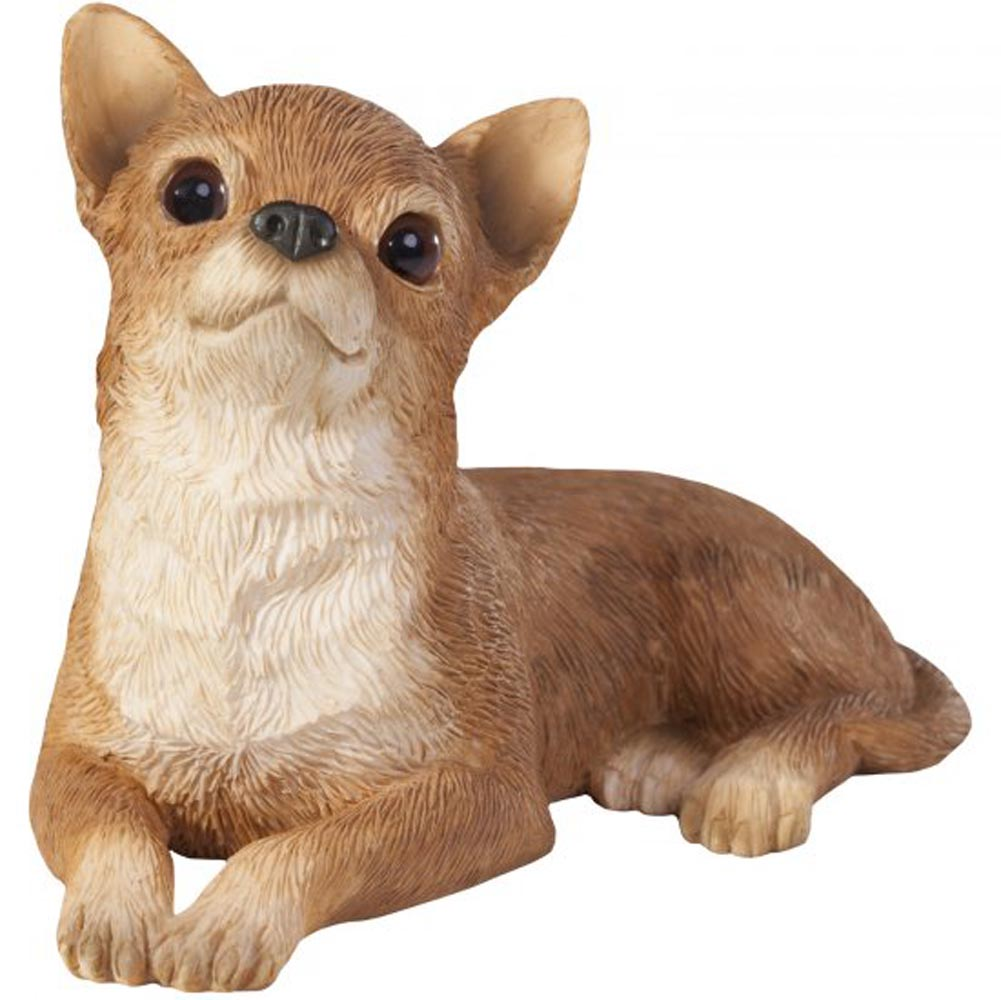 Chihuahua Figurine Hand Painted Tan - Sandicast
