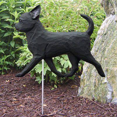 chihuahua-garden-sign-black