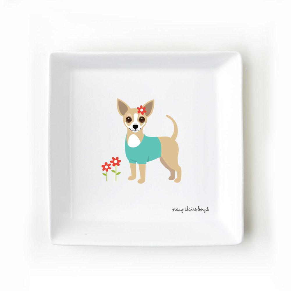 Chihuahua Jewelry Trinket Dish