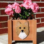 Chihuahua Planter Flower Pot Longhair Fawn 1