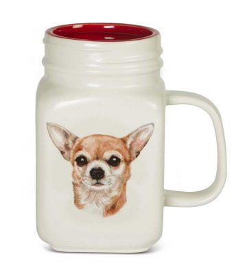 Chihuahua 21 Oz. Ceramic Mug Mason Jar - All You Need Is Love