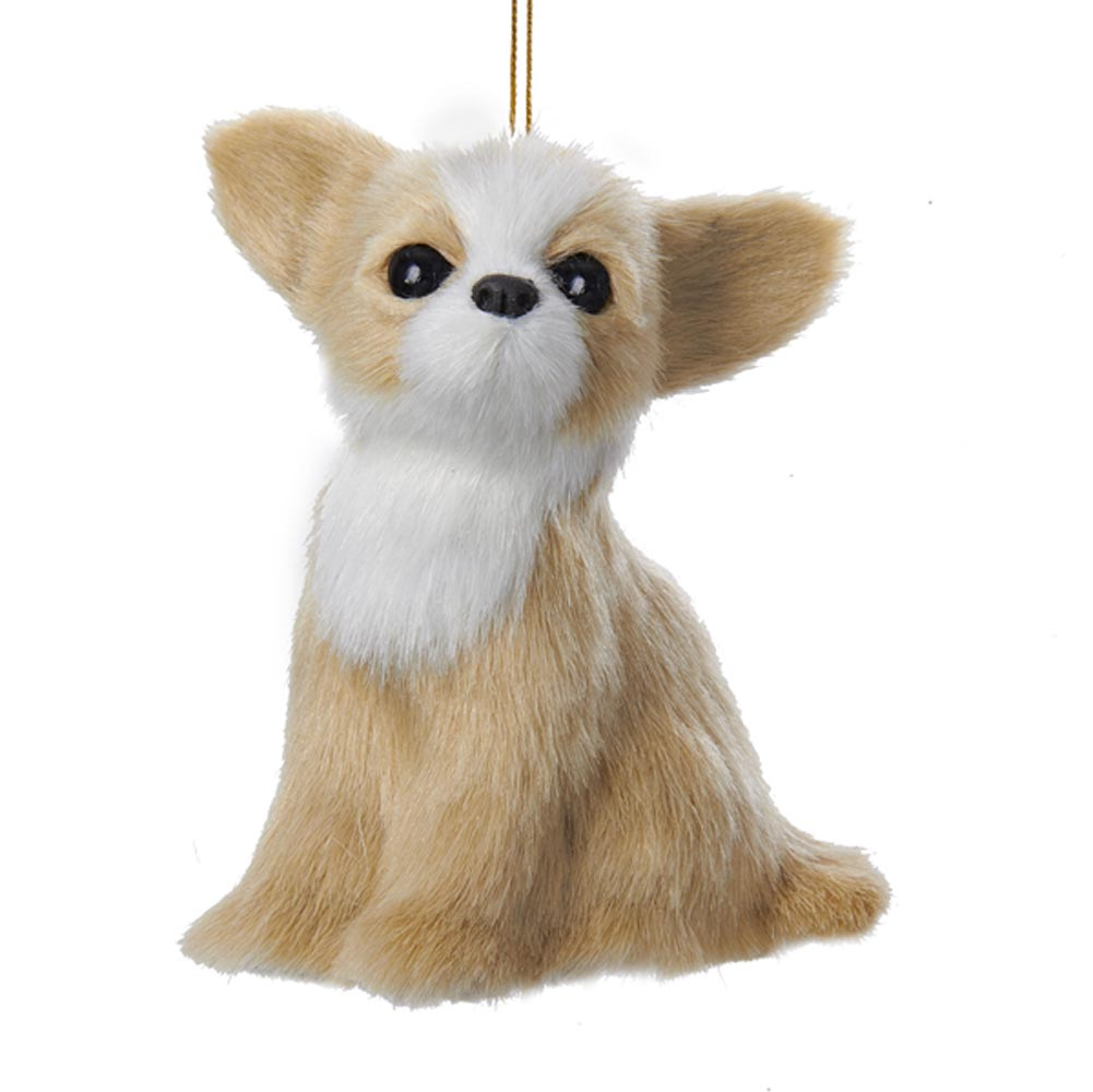 Chihuahua Plush Ornament 4 Inches
