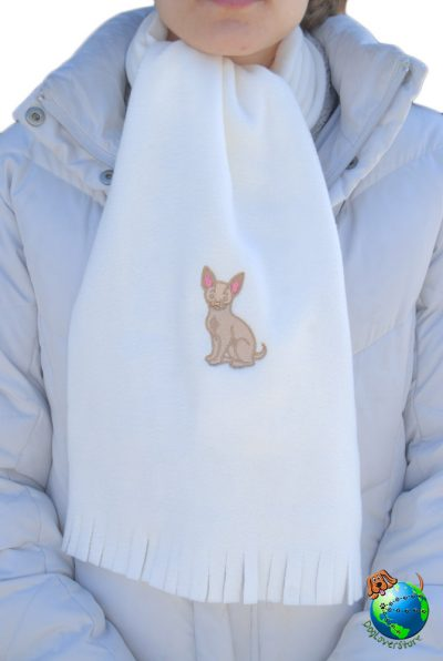 Chihuahua Scarf Cream Fleece 1