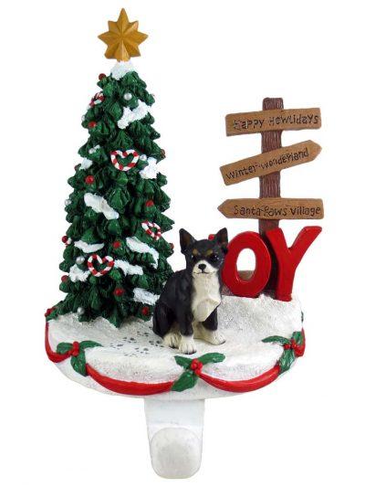 Chihuahua Stocking Holder Hanger Black