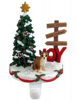 Chihuahua Stocking Holder Hanger Brindle