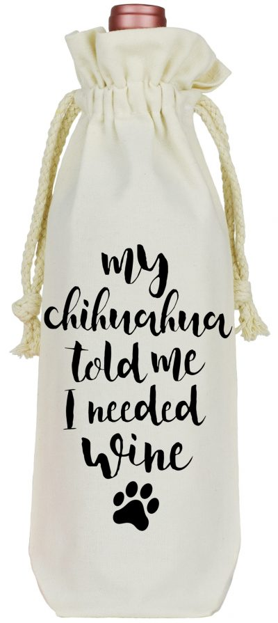 Chihuahua Wine Bag