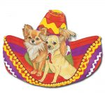 Chihuahua Wooden Magnet Tan & Longhair