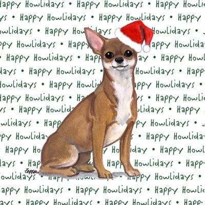 Chihuahua Dog Coasters Christmas Themed