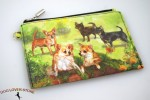 Chihuahua Dog Bag Zippered Pouch Travel Makeup Coin Purse